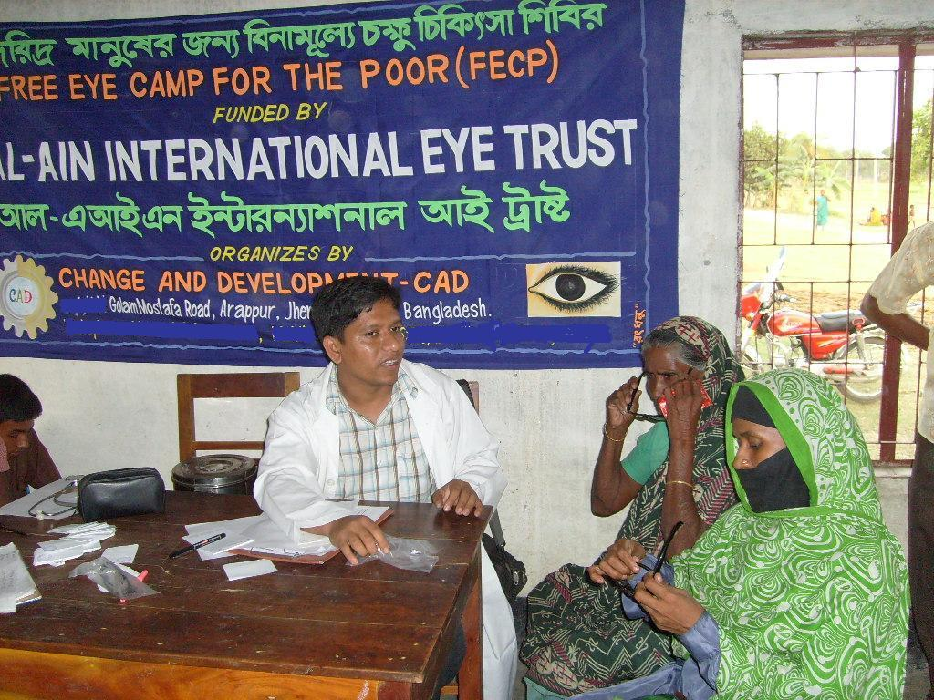 Al-Ain & Change and Development (CAD) organised number of  Free Eye Camp in poor suburb of Bangladesh.